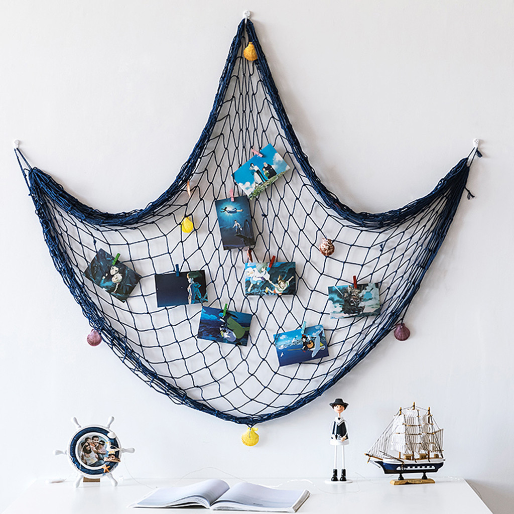 Fishing Net Seaside Wall Beach Party Sea Shell Wall Decor Nautical Ocean Theme