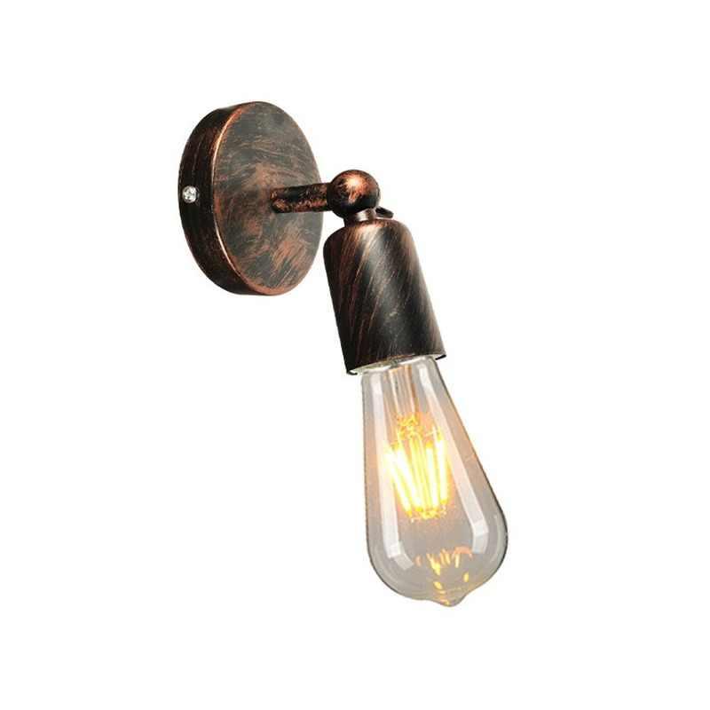 E27 lámpara de pared de hierro de cabeza simple lámparas de sala de estar y linternas lámpara de noche pasillo decoración del hogar moderna luces de pared