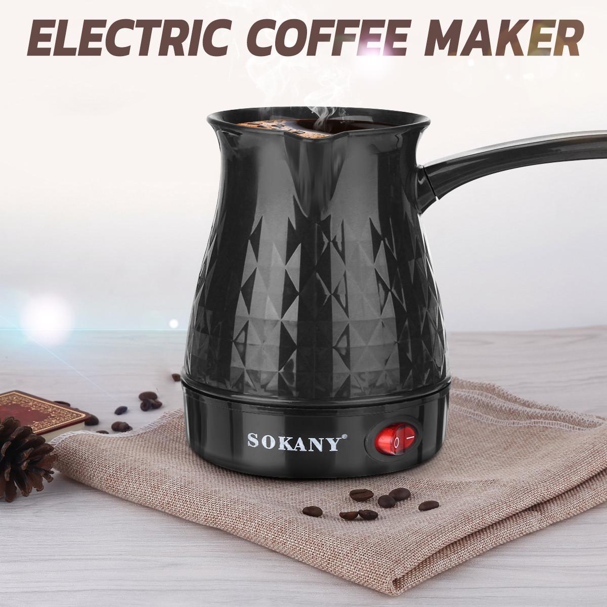 500ml Coffee Maker 600W Electric Coffee Percolato Coffee Pot Portable Espresso Machine Fast Heat Resistant EU Plug Waterproof