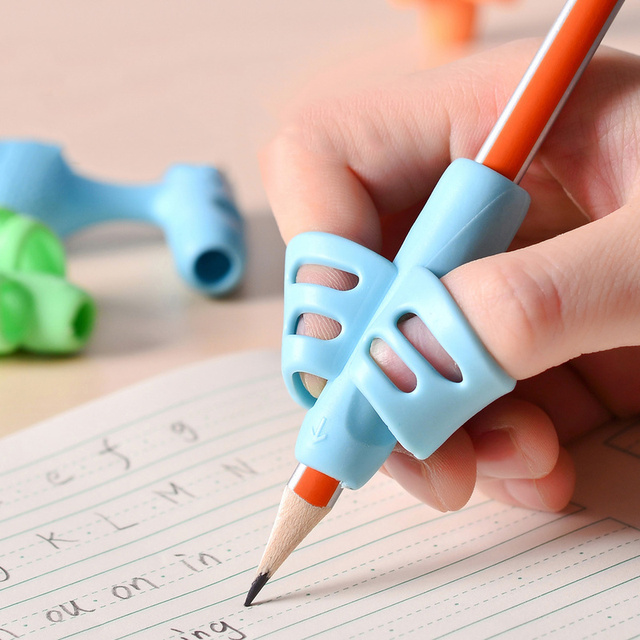 1Pcs 2 Pcs 5Pcs Pencil Holder Kids Beginner Writing Learning Silicone Aid Grip Posture Correction Tool Student Supplies