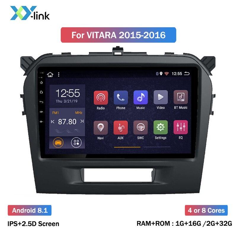 2.5D ips 9 дюймов Android 8,1 автомобильный DVD мультимедийный плеер для Suzuki Vitara 2015 2016 2017 2018 2019 gps навигация радио