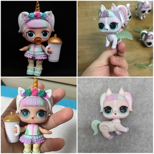 HOT lol doll Original Rare Style Unicorn doll Clothes shoes headdresses bottles 1 set accessories toys gift for grils(China)