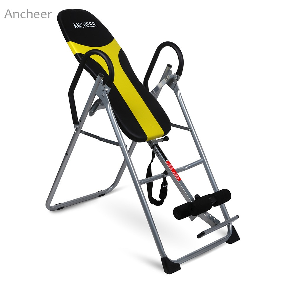 Ancheer Fitness Equipments Gravity Inversion Table Back Pad Hang Exercise Home Gym Fitness Training Machine image