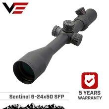 Vector Quang Học Gen2 SENTINEL Săn Bắn 6 24x50 E Mục Tiêu Chụp Riflescope Chiếu Sáng với Phạm Vi Bên Tập Trung Gắn Tấm Che Nắng