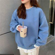 Oversized Hoodies Women Korean Version Sweatshirt Hoodi Tops Street Style Letter Embroidery Long Sleeve Pullovers coat wholesale