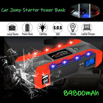 Car Battery Jump Starter Booster 89800mAh 12V 1000A LCD Display Portable Car Jump Starter Power Bank Battery Emergency Charger image