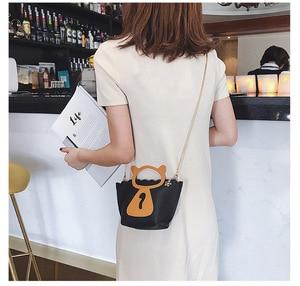 Image 5 - Individual cat chain mini casual bag Korean style new style single shoulder single shoulder bag.