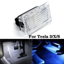 2/4/6/8/10pcs Ultra בהיר LED נורות עבור טסלה דגם 3 X S רכב פנים אור תא מטען Frunk Footwell אור החלפת אוטומטי מנורה