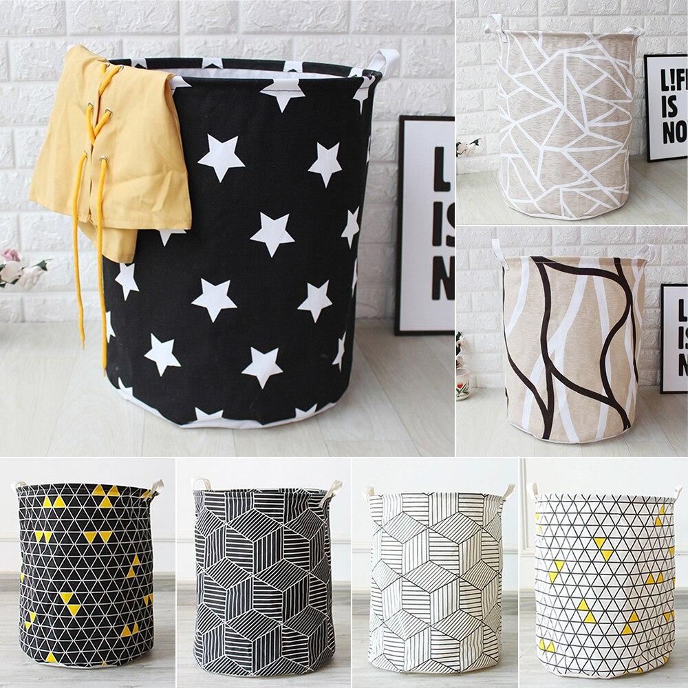 Foldable Laundry Basket Clothes Storage Bag Dirty Laundry Basket Toys Holder Bucket Organizer Home Sundries Storage Bag Canvas