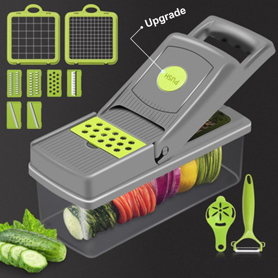 Новое обновление Кухня Картофельная Терка чип резки Многофункциональная терка для овощей инструменты измельченные аппарат для нарезки ка...