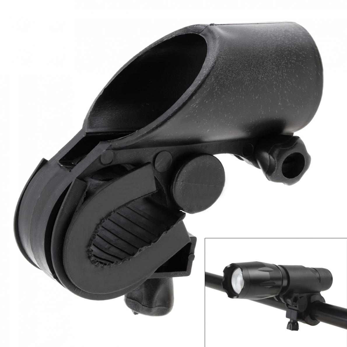 19 - 27mm High-Quality Durable Black Bicycle Light Holder Lamp Clip LED Flashlight Torch Clamp Mount Bracket And Sleeve