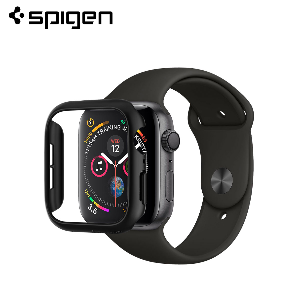 Spigen Thin Fit For Apple Watch 5 / 4 (44mm/40mm) Cases Form-fitted Design Hard Polycarbonate Material Smooth Finish Thin Cover