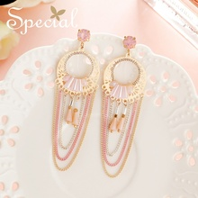 Special American and American s 925 silver ear needle nails in young girl's heart ear clip personality earring eye and ear in wordsworth s poetry