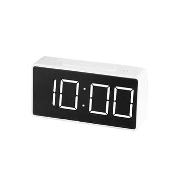 Zegar cyfrowy budzik LED duży wyświetlacz zegar drzemki obudź się wyciszenie zegar na biurko dla dzieci sypialnia duży zegar numeryczny tanie i dobre opinie CN (pochodzenie) SQUARE DIGITAL 180g 16cmmm Zegarki z alarmem LUMINOVA Z tworzywa sztucznego Nowoczesne Funkcja drzemki