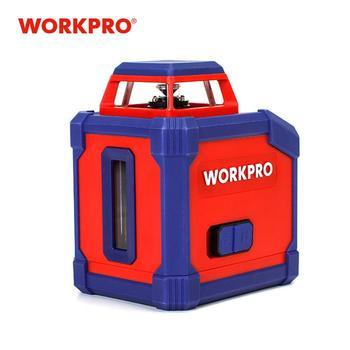 WORKPRO 360-Graus de Distância A Laser Telêmetro laser Medidor de Auto-Nivelamento da Linha de Nível Do Laser Cruz