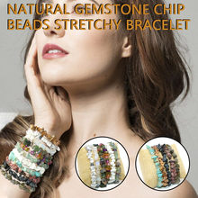 Natural Gemstone 5-8mm Chip Beads Stretchy Bracelet Healing Re iki Chakra Fashion Lucky Bracelets or Women Men Jewelry 2020(China)