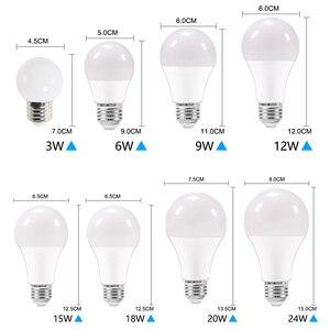 Image 3 - 10 개/몫 LED 전구 디 밍이 가능한 램프 E27 E14 220V 240V RGB Led 전구 스마트 IC 진짜 전원 24W 20W 18W 15W 12W 9W Lampada LED Bombilla