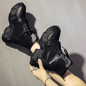 Image 5 - SWYIVY Demin Martin Boots Women Wedge Shoes Woman 2020 New Spring Women Ankle Boots Platform Ladies Booties Solid Female Shoes