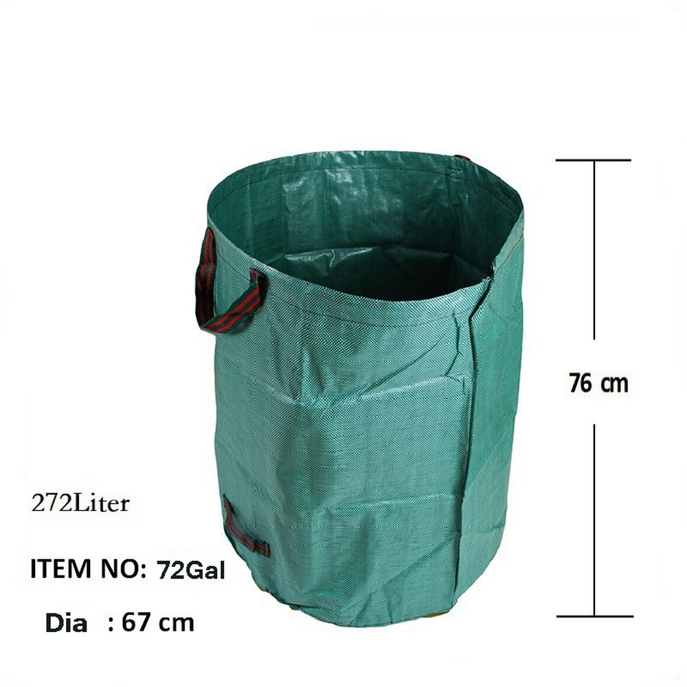 Portable Collapsible Pop-Up Garden Leaf Trash Can Garbage Storage Bag Flowers And Grass Collection Bin For Garden Camping