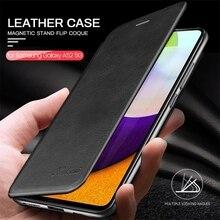 Voor Sansung Een 52 5G Case Lederen Textuur Magneitc Flip Cover Voor Samsung Galaxy A52 5G Sm a526b/ds 6.5 Boek Wallet Stand Coque