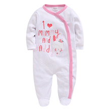 2019 0-12M Newborn Baby Girl Clothes Cute Cartoon Printed Infant Rompers Jumpsuit Fashion New Toddler Outfits