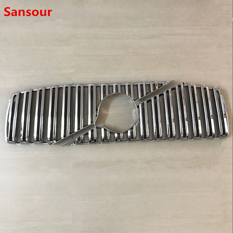 Sansour ABS Chrome Plastic Front Bumper Grille Moulding Cover Trim For VOLVO XC90 2016 2017 2018 2019 image