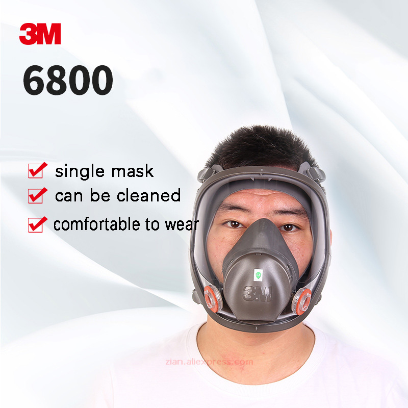 3m Mask 6800 Industrial Gas Mask Military Spray Protection Masks Full Face Safety Respirator With 6001/6002/6003/6004 Filters