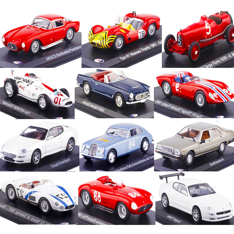 1:43 Scale Diecast Alloy Classic Maseraties Racing Rally Car Model Traffic Tools Vehicles Toys For Fans Collection Show Display