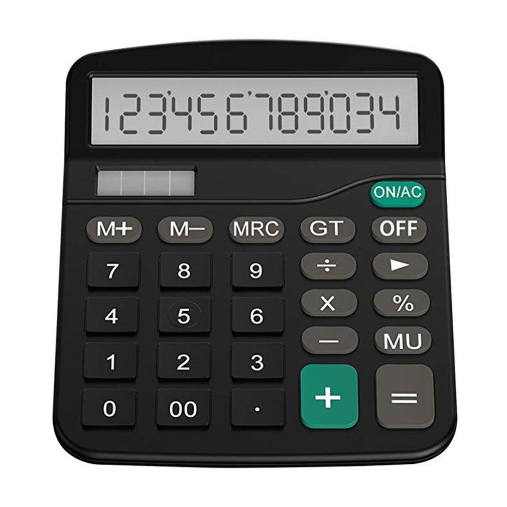 Biuro kalkulator finansów Calculat plastikowe Solar komputer Business finansów w biurze kalkulator 12 komputerów stacjonarnych biuro kalkulator