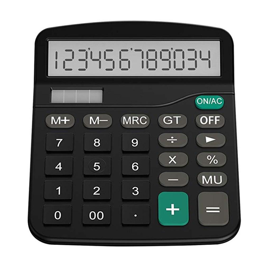 Ufficio Finanza Calcolatrice Calculat di Plastica Solare Del Computer Business Finanza Calcolatrice Ufficio 12-Bit Calcolatrice Da Tavolo Ufficio
