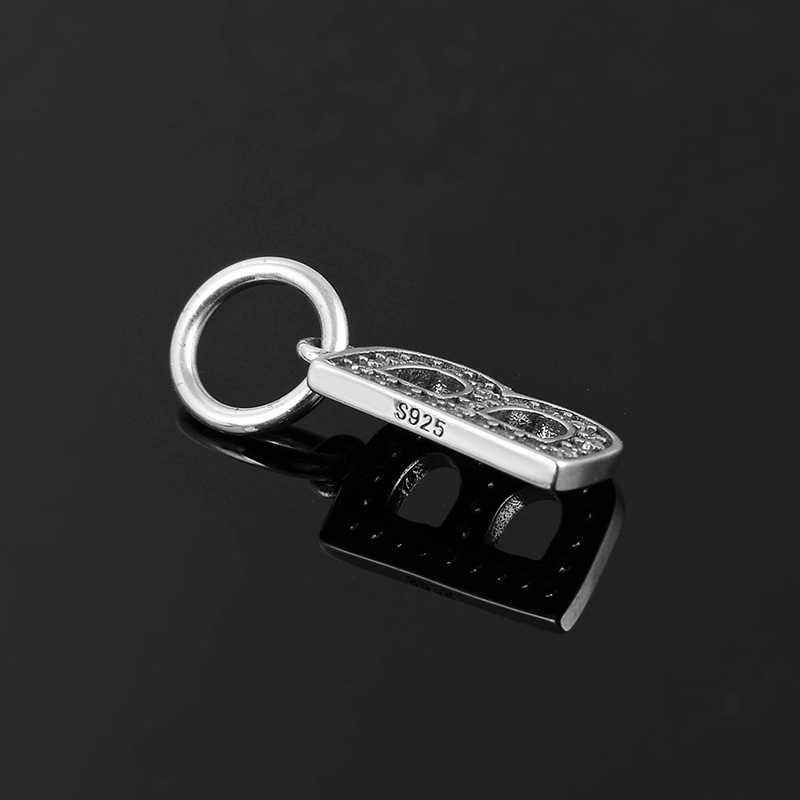 موضة الأبجدية خرز كريستالي رسالة B 925 فضة دلايات صالح الأصلي باندورا دلايات سوار صنع المجوهرات