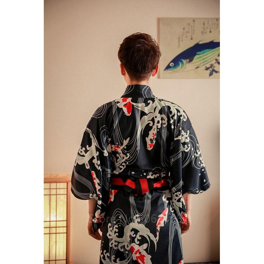 Japonês tradicional roupas quimono para homens samurai