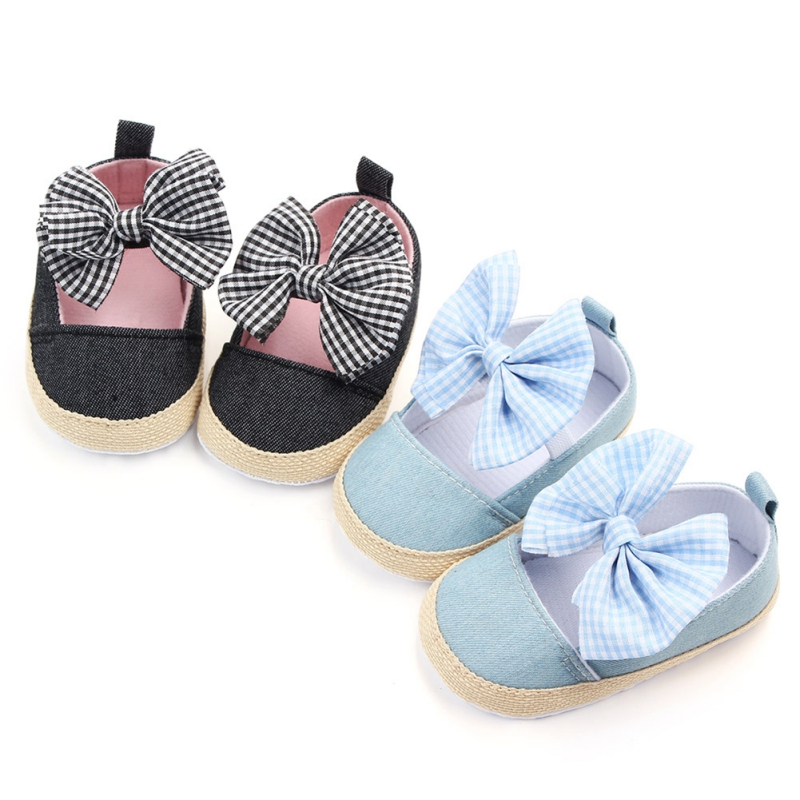 Kacakid Cotton Baby Girl Shoes Newborn Baby Girl First Walkers Princess Soft Sole Crib Shoes Prewalkers 0-18M