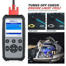 Autel ML629 OBD2 الماسح الضوئي سيارة أداة تشخيص رمز القارئ + ABS/SRS أداة السيارات ، إيقاف ضوء المحرك (MIL) و ABS/SRS