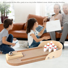 Bowling-Game-Toy-Set Desktop Mini for Kids Adulild Happy-Party-Toy Finger-Hand Wooden