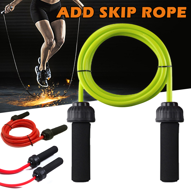 Weighted Jump <font><b>Rope</b></font> Heavy Jump <font><b>Rope</b></font> with Memory Non-Slip Cushioned Grip <font><b>Handles</b></font> THJ99 image