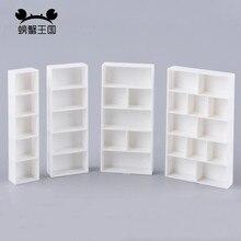 5 sztuk Dollhouse mini meble miniaturowe akcesoria dla lalek plastikowa półka na książki wiele specyfikacji