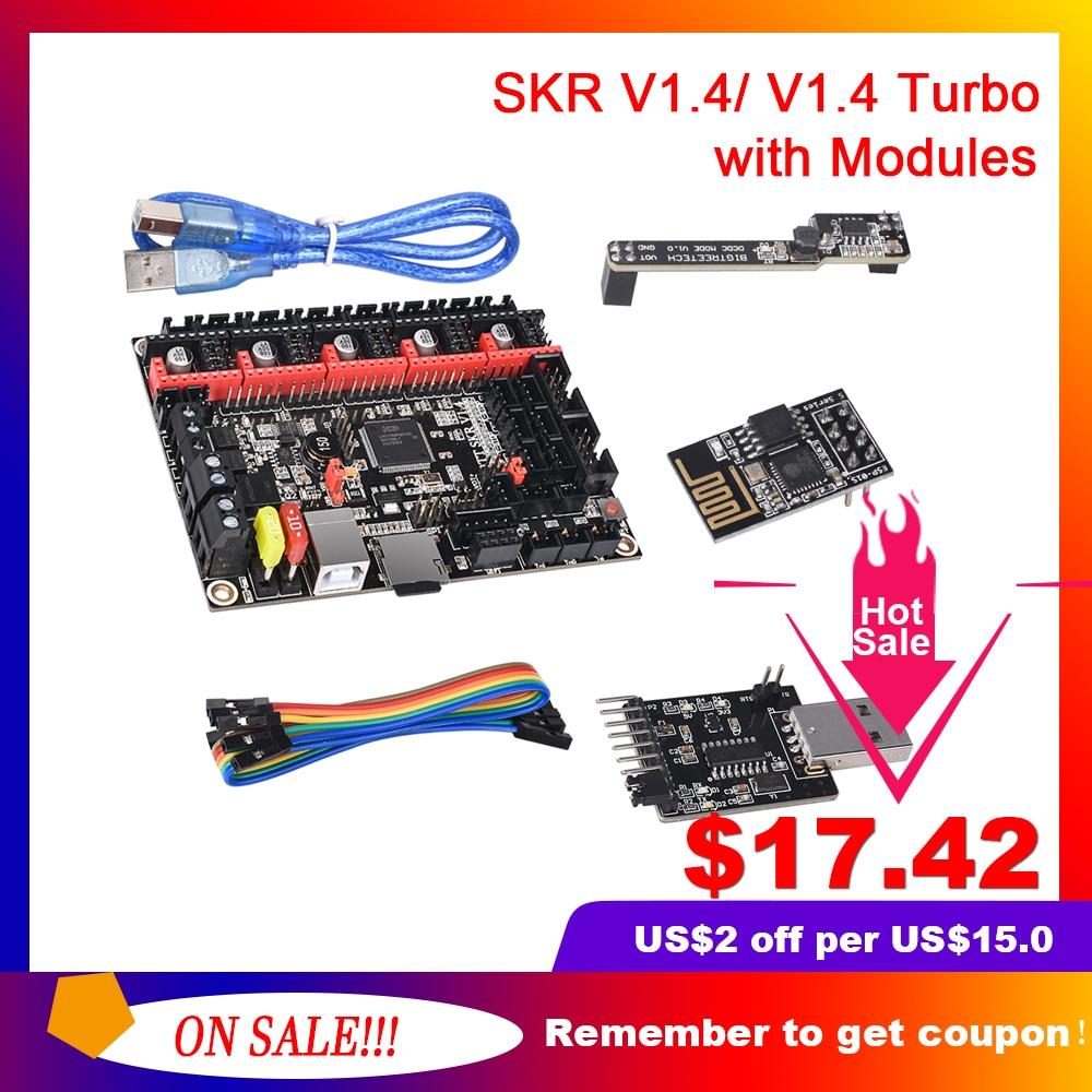 BIGTREETECH BTT SKR V1 4 32 Bit Board SKR V1 4 Turbo With DCDC Mode V1 0 WIFI BTT Writer Upgrade SKR V1 3 3d Printer Parts