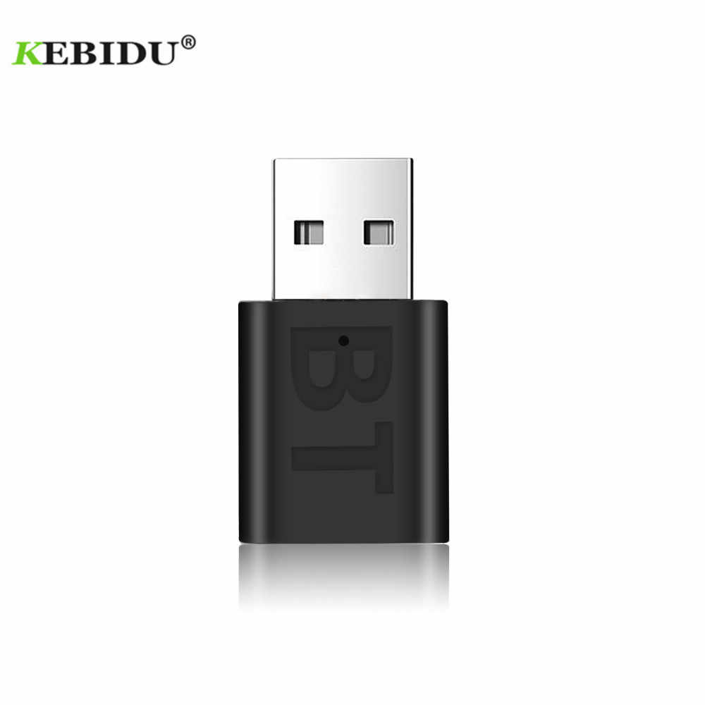 KEBIDU-Adaptador de Audio inalámbrico, por Bluetooth 5,0, Receptor y Receptor de Audio con clavija AUX de 3,5mm, Mini adaptador Bluetooth USB para coche