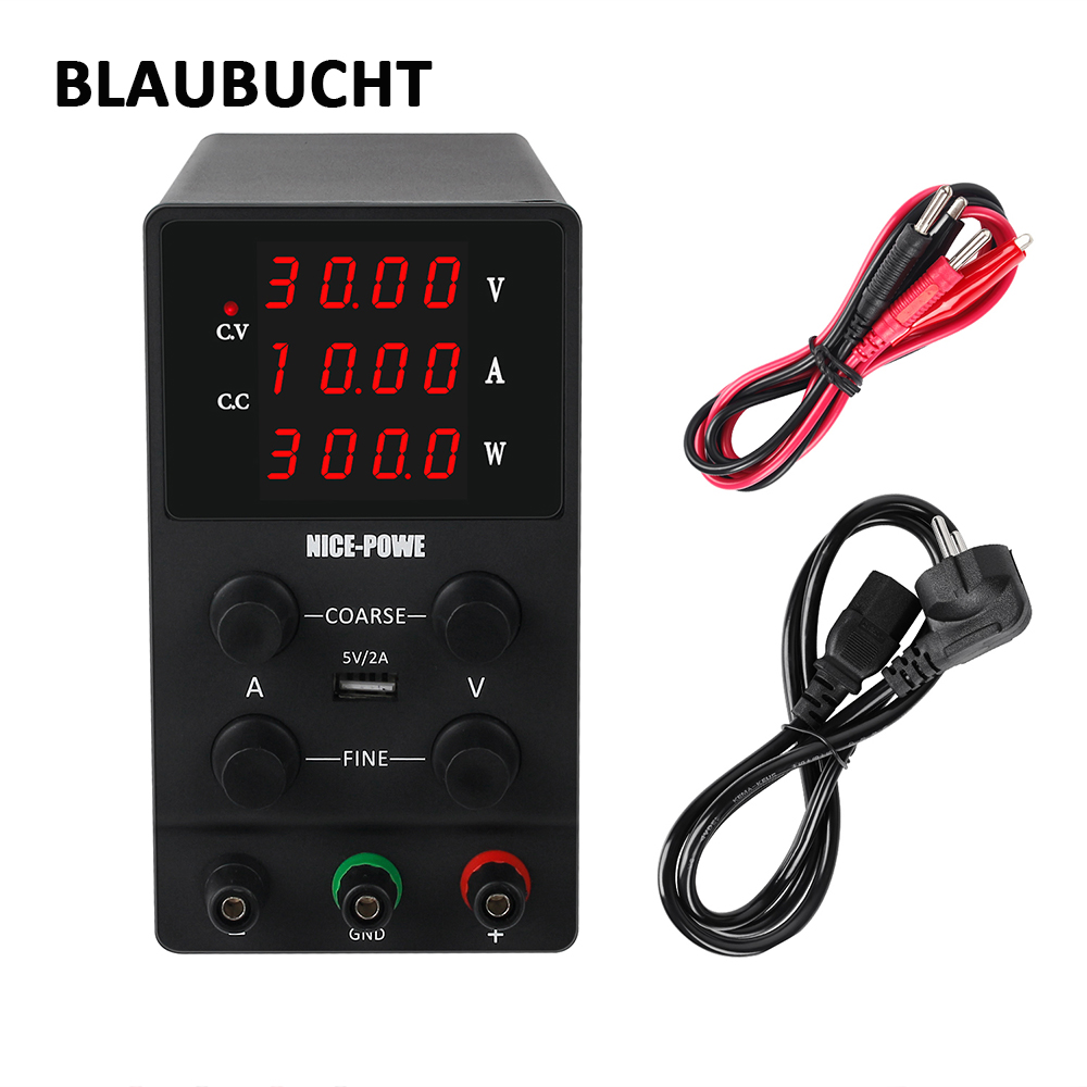 BLAUBUCHT Lab switching <font><b>DC</b></font> Power Supply 12V 30V <font><b>48V</b></font> 60V 120V <font><b>3A</b></font> 5A 10A <font><b>AC</b></font> 110V or 220V display 0.001A Adjustable Power Supply image