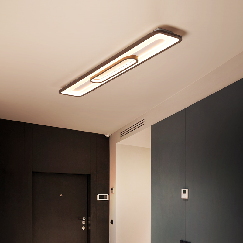 retangulo conduziu a luz de teto moderna lampada sala estar iluminacao luminaria cozinha quarto montagem em