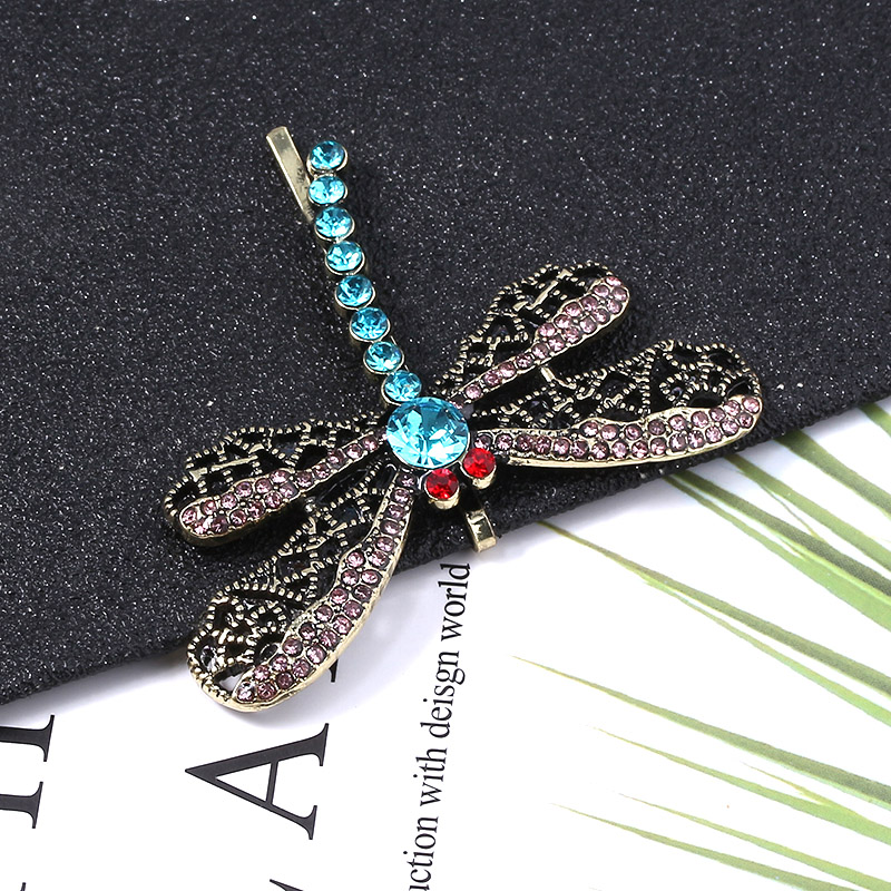 Super Promo C27d95 Horror It Movie Coraline Crystal Dragonfly Hair Clip Brooch For Girls Cute Animal Hairpin Jewelry Halloween Gifts Cicig Co