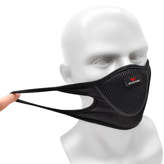Breathable Sports Dustproof Mouth Full Mesh Filter Dust Face Mask 2