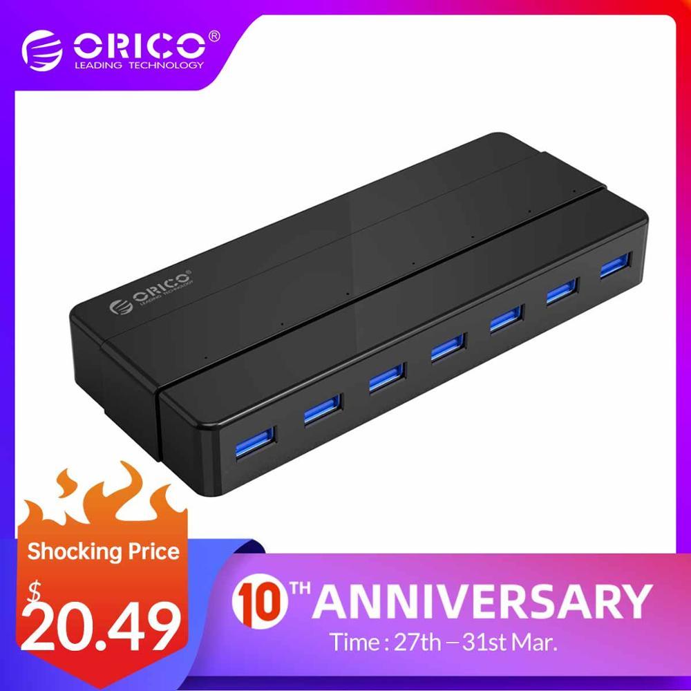 ORICO H7928-U3 7 Port USB3.0 Desktop HUB With 12V Power Adapter  USB 3.0 HUB