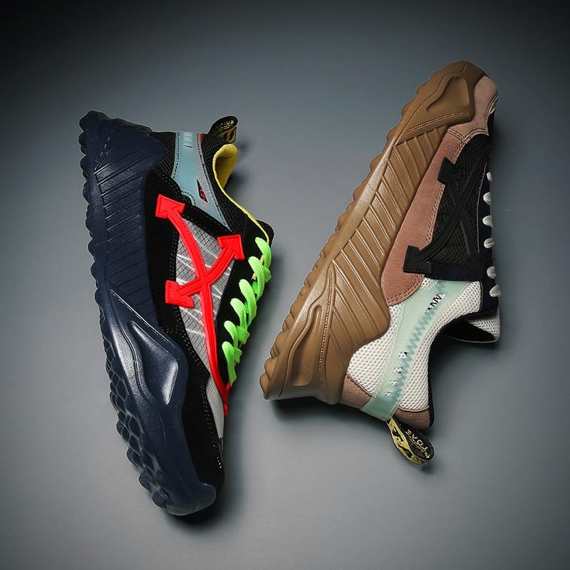 Уличные кроссовки; модная летняя обувь; мужская повседневная обувь из сетчатого материала; трендовые легкие дышащие слипоны на плоской подошве; chaussure homme; Новинка