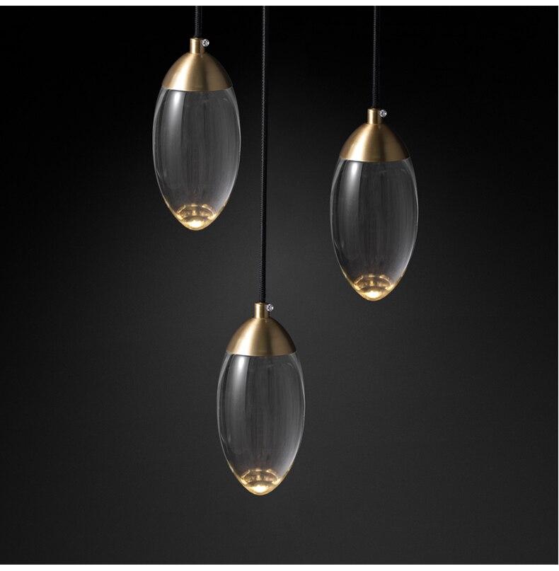 Image 3 - Modern Crystal ball LED Pendant lights Nordic Copper lighting bedroom bedside single head lights bar corridor small Hanging lampPendant Lights   -