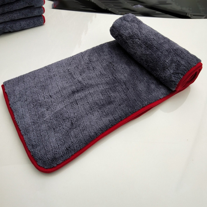 1000GSM 90X60 см Большой размер толстое плюшевое полотенце из микрофибры для мытья автомобиля, чистящие салфетки из микрофибры, полировка, Детализация, впитывающее полотенце