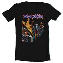 Zaxxon camiseta Retro Vintage Arcade Video juego 1980 negro algodón gráfico camiseta transpirable