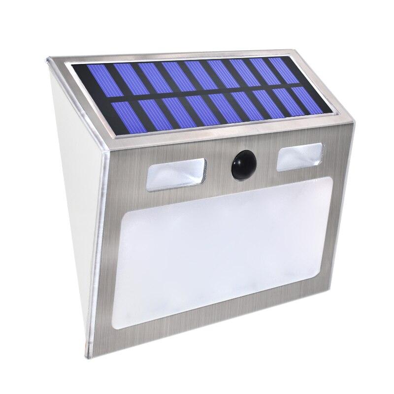 Işıklar ve Aydınlatma'ten Güneş Lambaları'de Güneş ev numarası plak ışık 200Lm hareket sensörlü LED işıklar adres numarası ev bahçe kapı güneş lambası aydınlatma title=