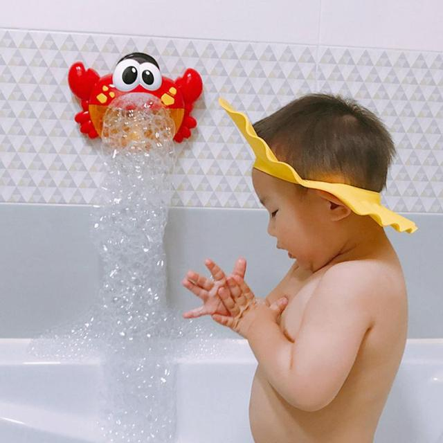 1Pcs Outdoor Bubble Machine Crabs Music Kids Bath Toy ABS Bathtub Soap Automatic Bubble Maker Baby Bathroom Toy For Children 1